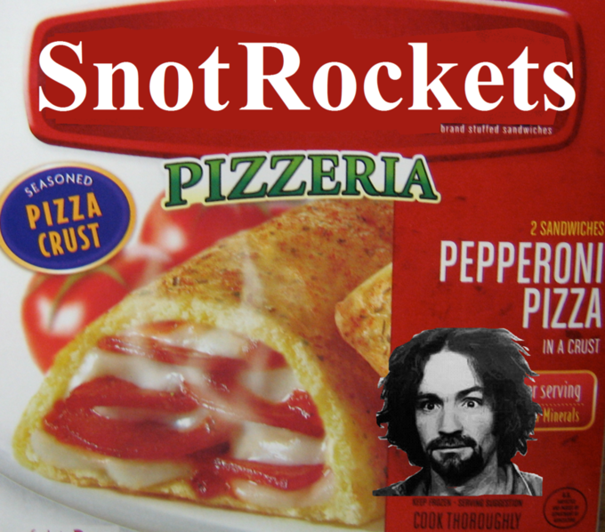 Food - Snot Rockets brand stutfed sandwiches PIZZERIA SEASONED PIZZA CRUST 2 SANDWICHES PEPPERONI PIZZA IN A CRUST serving Minerals SER COOK THOROUGHLY