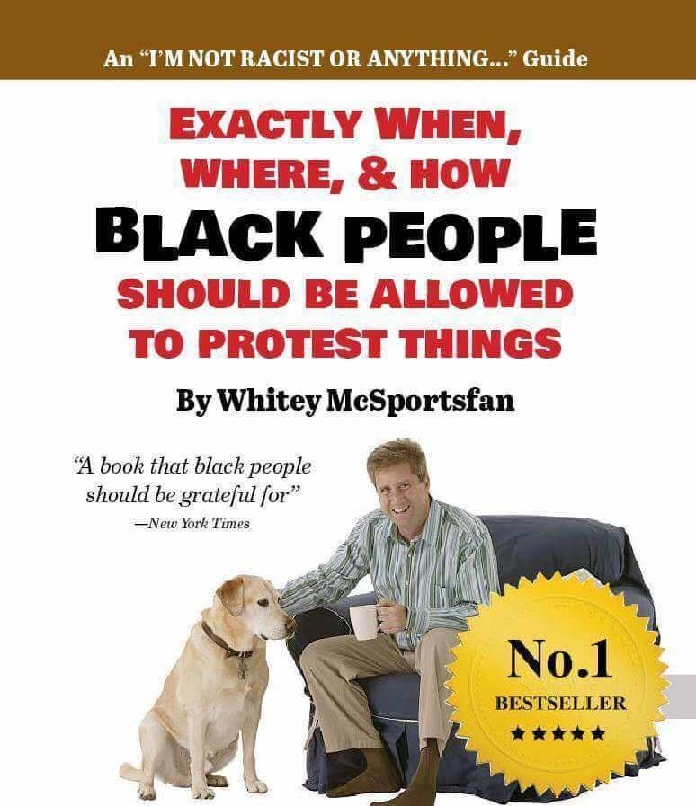 """Canidae - An """"I'M NOT RACIST OR ANYTHING..."""" Guide EXACTLY WHEN, WHERE, & HOW BLACK PEOPLE SHOULD BE ALLOWED TO PROTEST THINGS By Whitey McSportsfan """"A book that black people should be grateful for New York Times No.1 BESTSELLER"""