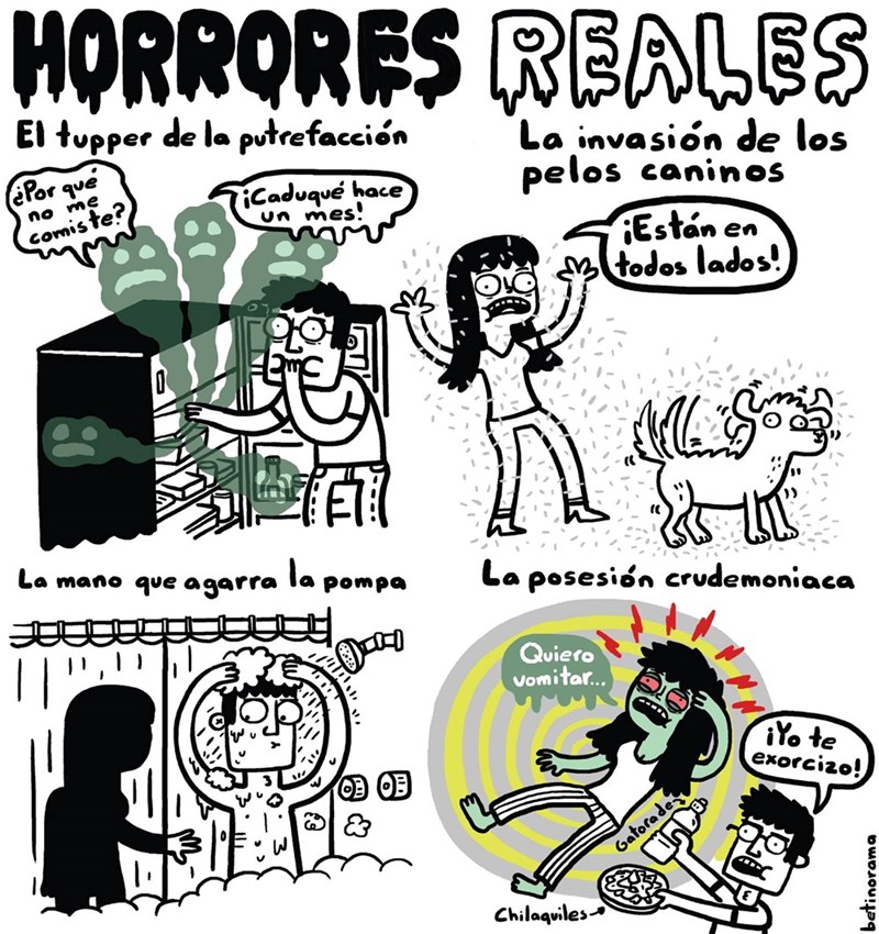 horrores reales un comic de betinorama