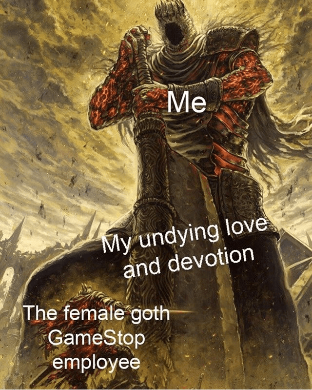 object labeled meme about goth gf