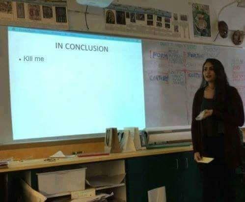Presentation - IN CONCLUSION TFO Kill me CONTH