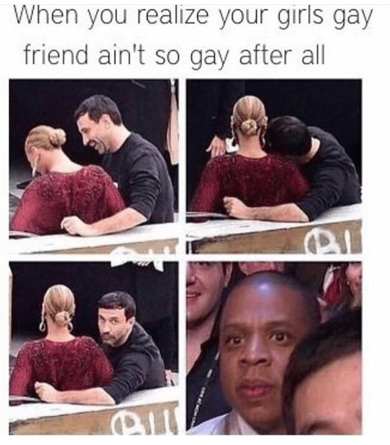 Facial expression - When you realize your girls gay friend ain't so gay after all