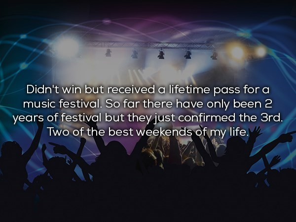 lifetime pass to music festivals