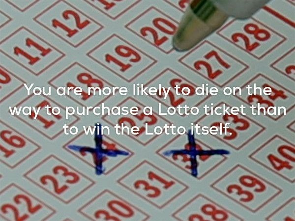 Pattern - 11 You are more likely to die on the way to purchase a Lotto ticket than 27 28 to win the Lotto itself 22 23 30 31 9 39 40