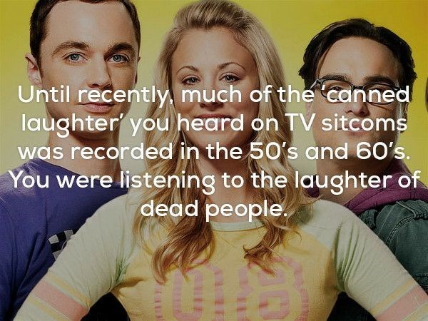 Hair - Until recently much of the canned laughter you heard on TV sitcoms was recorded in the 50's and 60's. You were listening to the laughter of dead people.