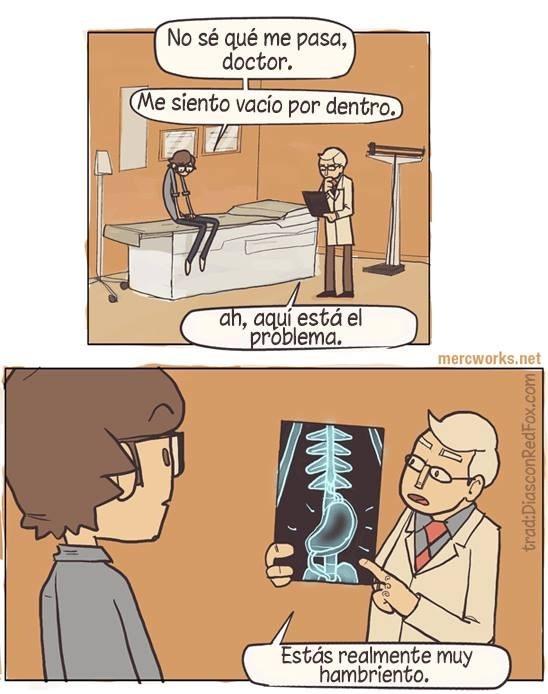 doctor me siento vacio por dentro es hambre
