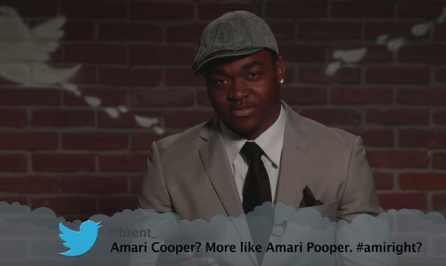 Head - @brent Amari Cooper? More like Amari Pooper. #amiright?