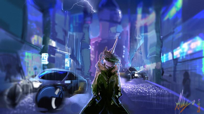 Blade Runner alumx ponify princess celestia anthropomorphic - 9123362816