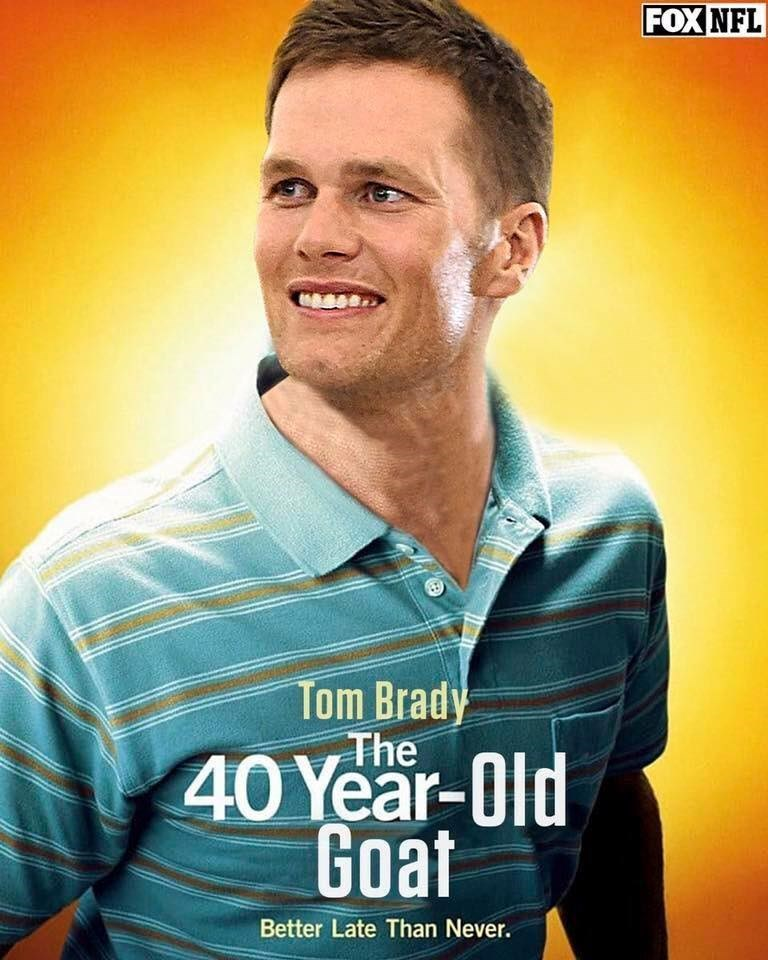 Facial expression - FOX NFL Tom Brady The 40 Year-Old Goat Better Late Than Never.