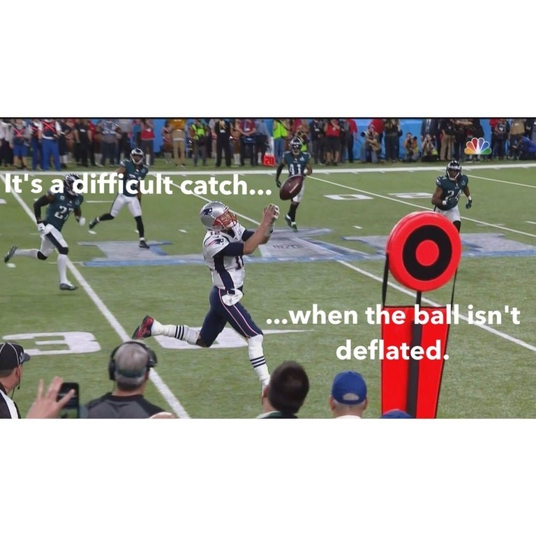 Player - t's a difficult catch... ....when the ball isn't deflated.