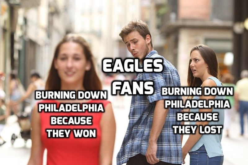 People - EAGLES BURNING DOWN ANS BURNING DOWN PHILADELPHIA BECAUSE THEY LOST PHILADELPHIA BECAUSE THEY WON