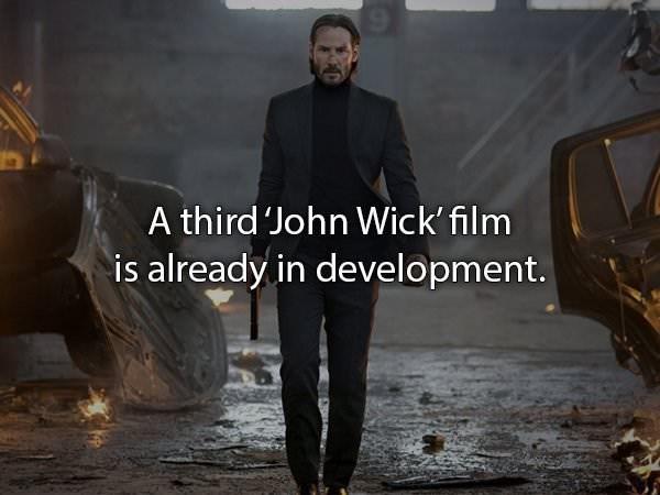 Movie - A third John Wick' film is already in development.