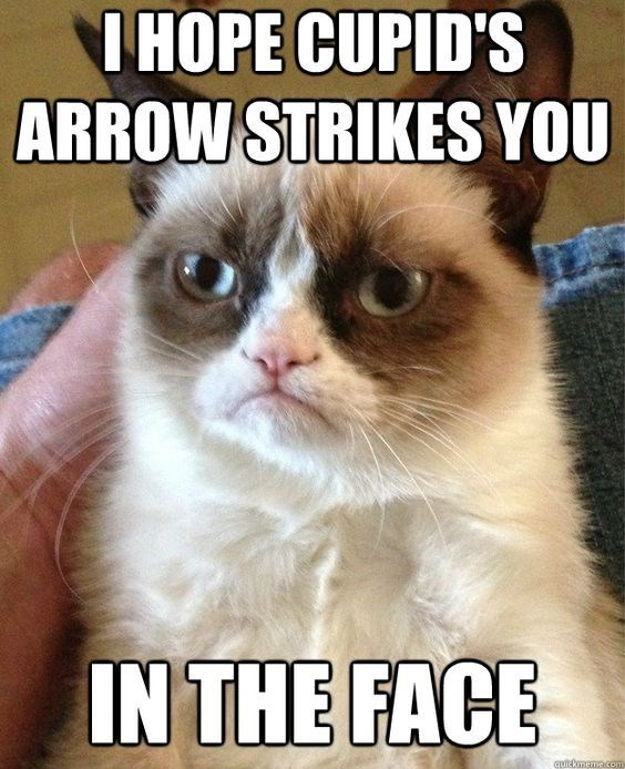 grumpy - Cat - IHOPE CUPID'S ARROW STRIKES YOU IN THE FACE auickaane.com