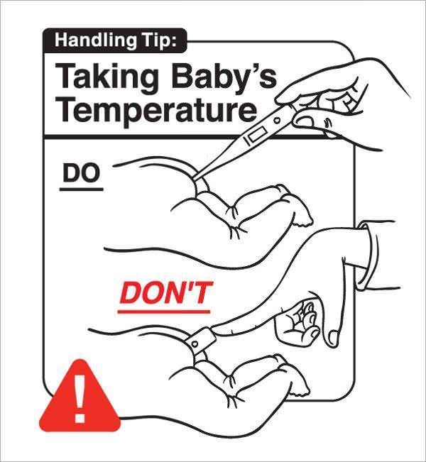 pic on how to take a baby's temperature correctly