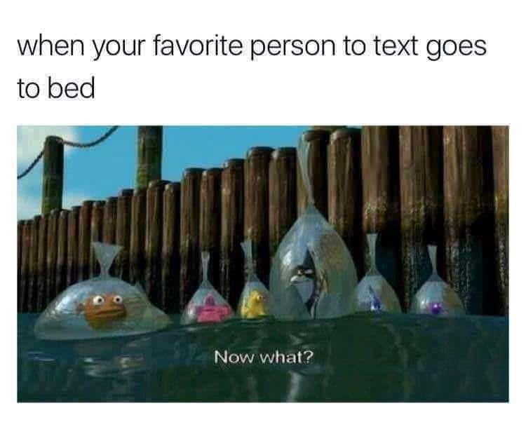 finding nemo meme about not having anyone to text