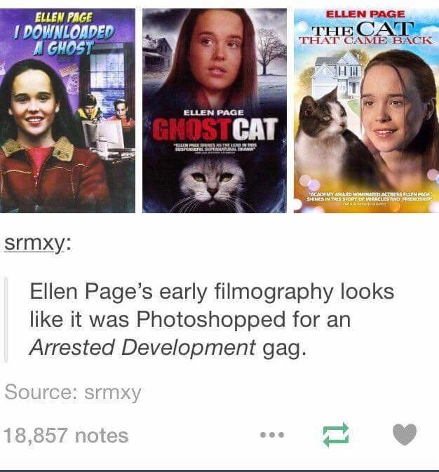 ellen page movies that look like they've been photoshopped