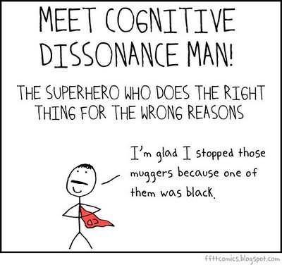 cognitive dissonance about a superhero