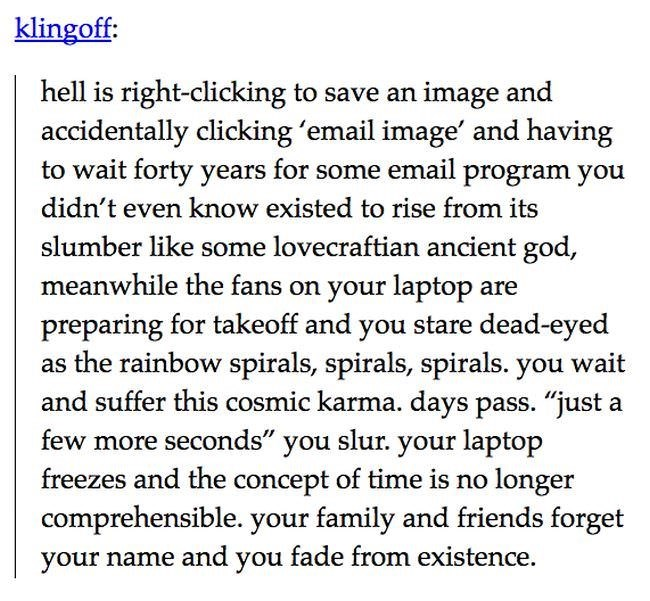 Tuesday meme of text post about accidentally clicking email image