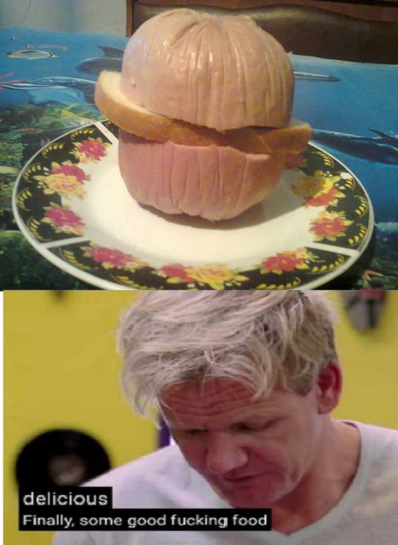 Gordon Ramsay - Headgear - delicious Finally, some good fucking food