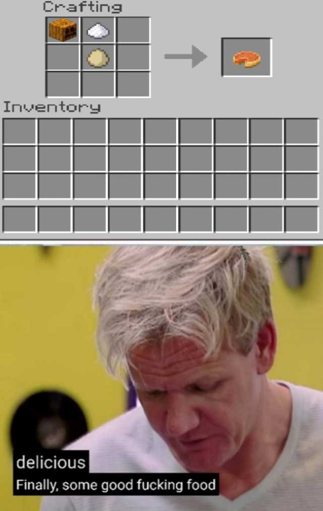 Gordon Ramsay - Font - Crafting Inventory delicious |Finally, some good fucking food