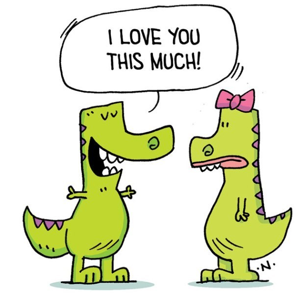 Cartoon - I LOVE YOU THIS MUCH! Vv