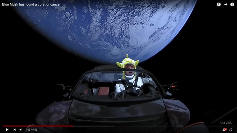 space tesla - Space - Elon Musk has found a cure for cancer lola viola 1:49/5:59