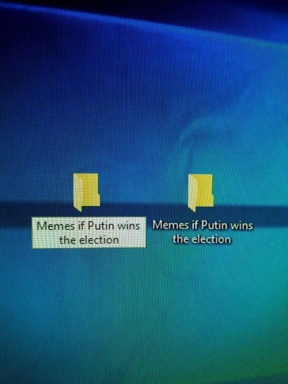 Funny meme about Putin election.