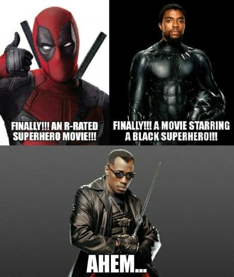 superheroes rrated movie with a black character