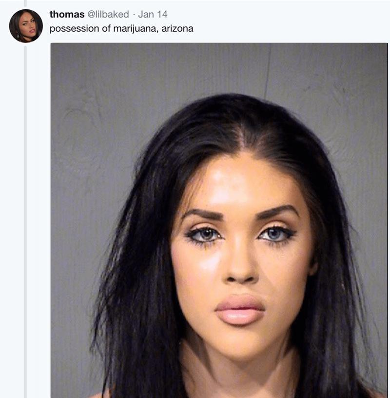 Hair - thomas @lilbaked Jan 14 possession of marijuana, arizona