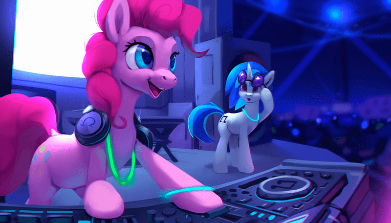rodrigues404 pinkie pie vinyl scratch - 9125135616