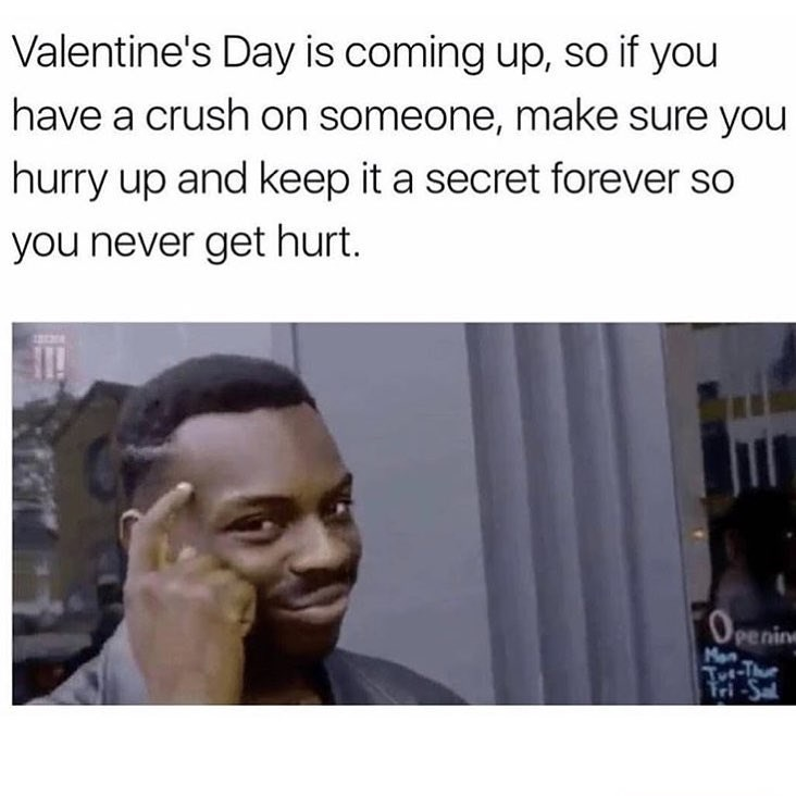 Funny meme about valentines day.
