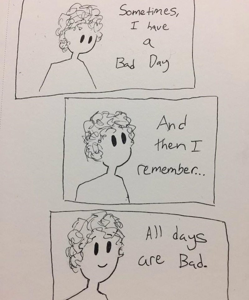 funny meme about bad days.