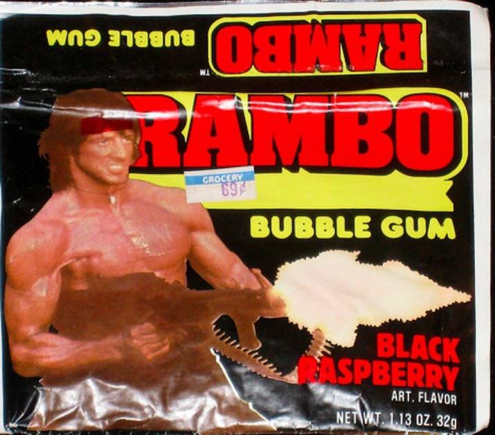 Muscle - RAMBO TAMBO BUBBLE GUM GROCERY 69 BUBBLE GUM BLACK JASPBERRY ART. FLAVOR NET WT L13 0Z. 32g