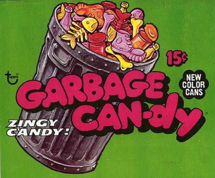 Cartoon - 15% GARBAGE CANY NEW COLOR CANS ZINGY CANDYg