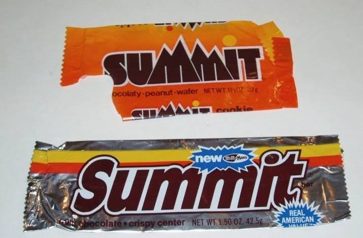 Food - SUMMIT ocolaty peanut wafer NETWT tz conkie Summit new MAm-MARS REAL ocolate crispy center NET WT 1.50 0Z. 42.5g AMERICAN MALLIE