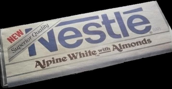 Text - Nestle ualit erior up Alpine White with Almonds