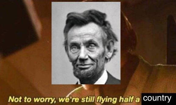 Facial expression - Not to worry, we're still flying half a COuntry