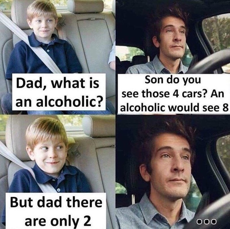 Funny meme about alcoholism.