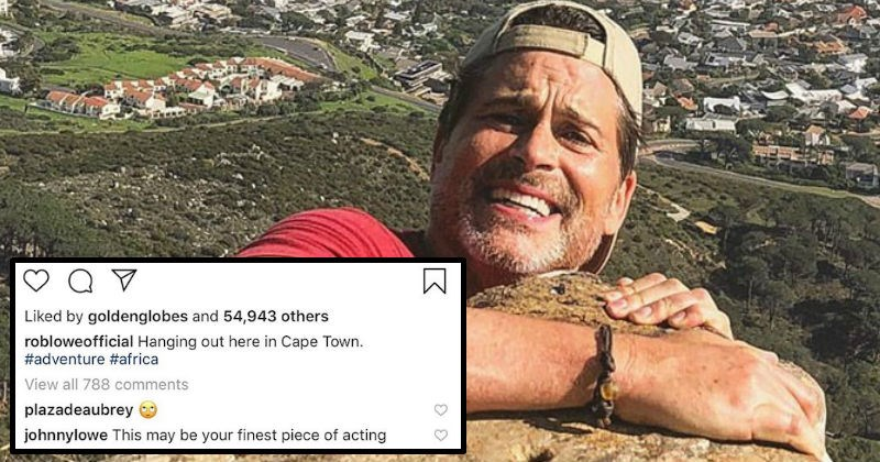 Rob Lowe's sons love to troll him on Instagram over his pictures and captions.