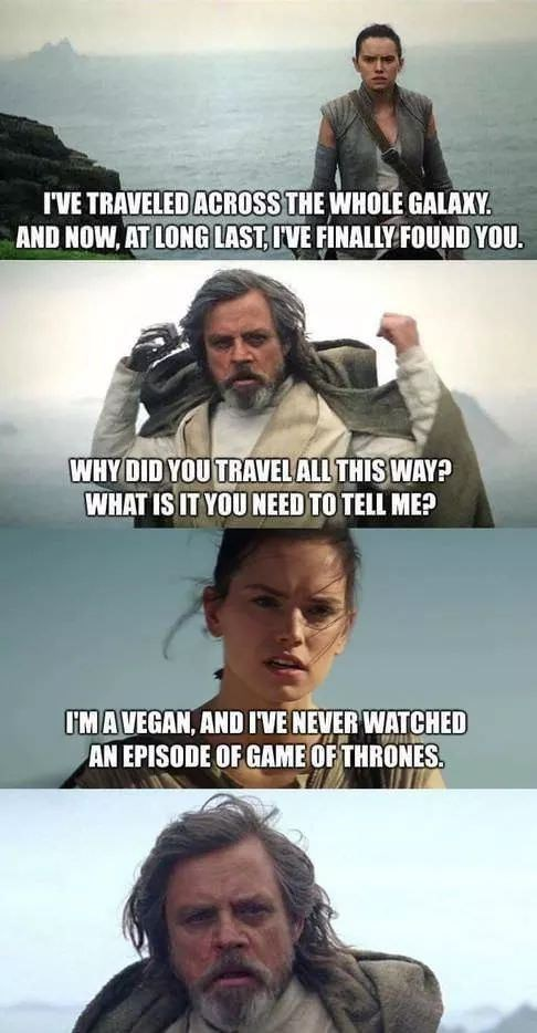 Cool meme about star wars.