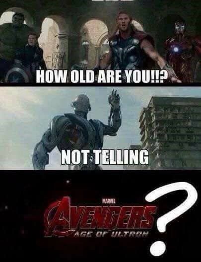 how old are you not telling age of ultron