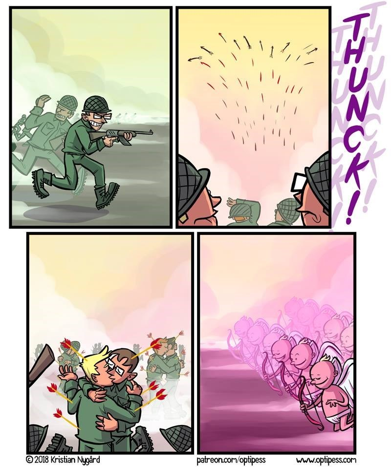 el dia que te vas a la guerra el dia de san valentin