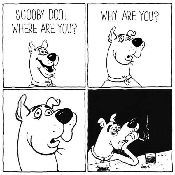 Cartoon - SCOOBY DOO! WHERE ARE YOU? WHY ARE YOU?