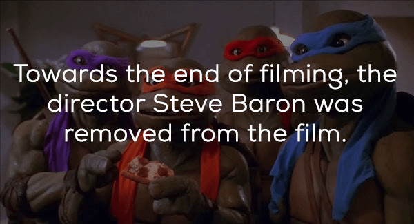 Text - Towards the end of filming, the director Steve Baron was removed from the film.