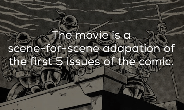 Text - The movie is a scene for scene adapation of the first 5 issues of the comic.