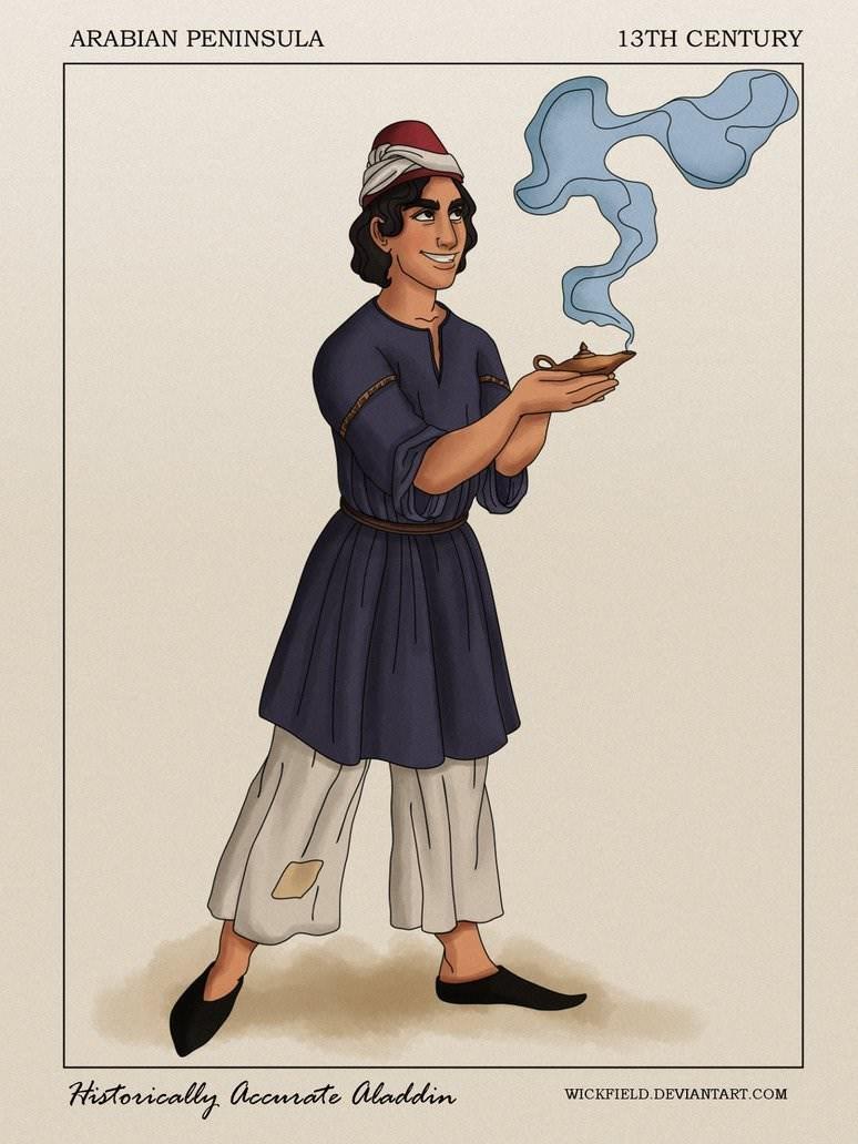 Cartoon - ARABIAN PENINSULA 13TH CENTURY Hstorically accmrate aladdin WICKFIELD. DEVIANTART.COM
