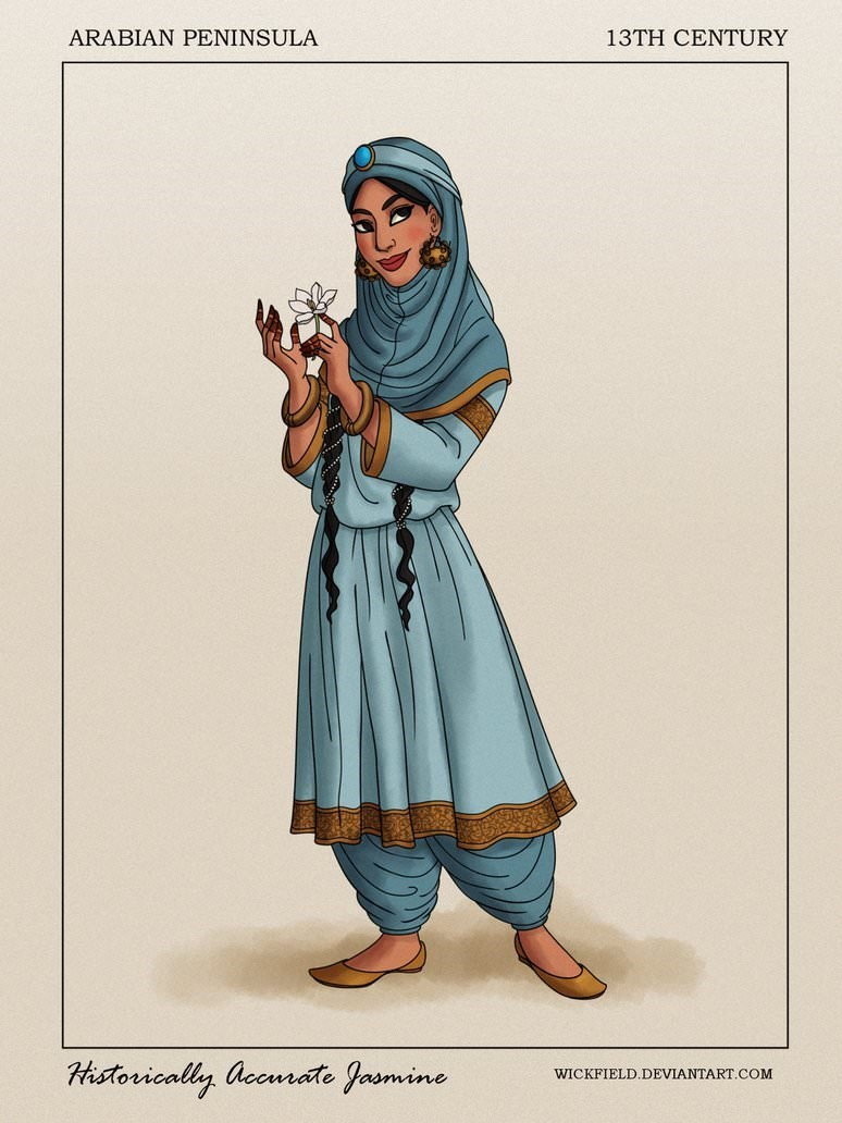 Illustration - 13TH CENTURY ARABIAN PENINSULA Historically accuate Jasmine WICKFIELD.DEVIANTART.COM