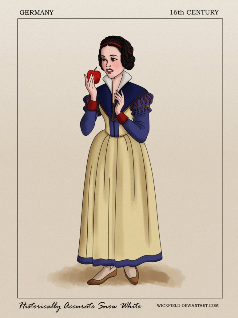 Costume design - 16th CENTURY GERMANY Historically accurate Snow White WICKFIELD.DEVIANTART.COM