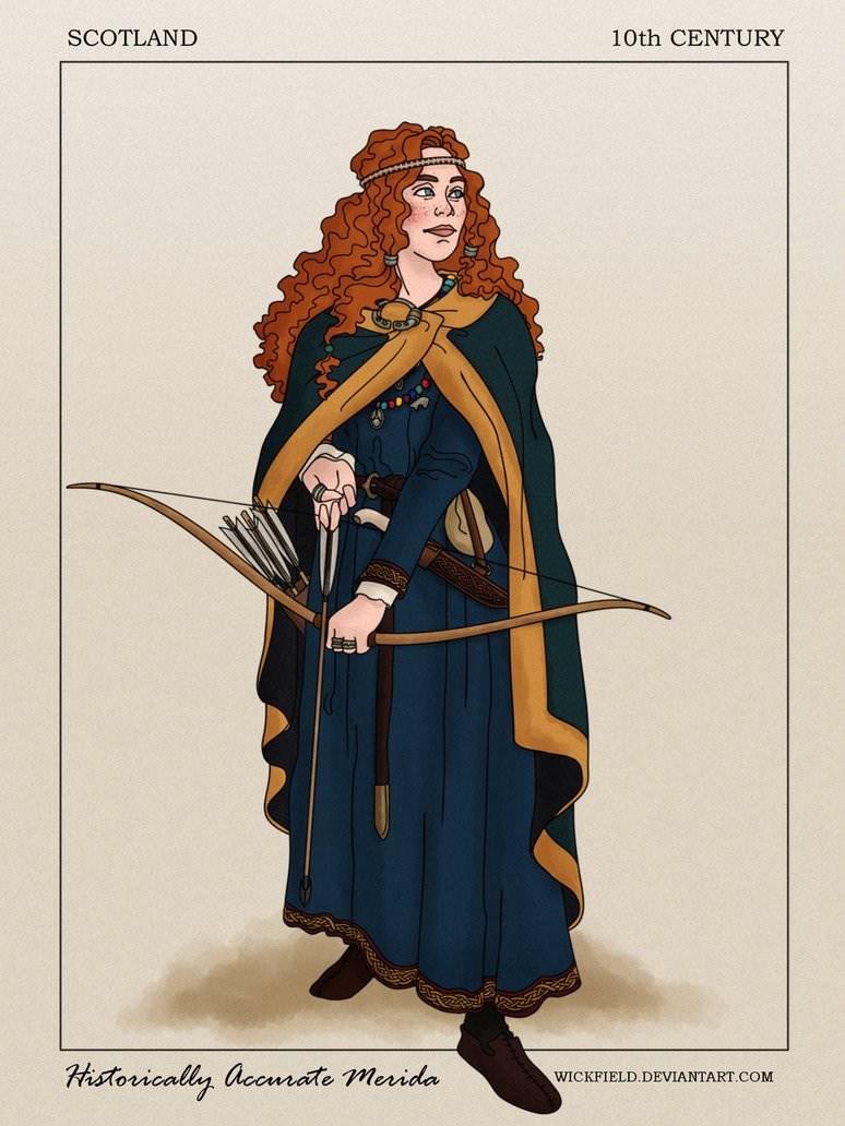 Costume design - SCOTLAND 10th CENTURY Historically accrate merida WICKFIELD.DEVIANTART.COM