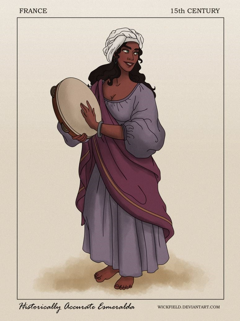 Costume design - FRANCE 15th CENTURY Historically accnrate Eameralda WICKFIELD.DEVIANTART.COM